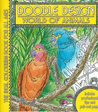 World of Animals Adult Colouring Book - Doodle Design - Art Therapy