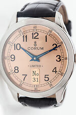 RARE XL Collectible Corum 40mm Mens PLATINUM Watch LIMITED EDITION