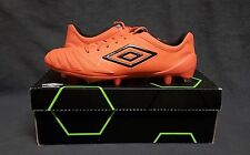 UMBRO UX Accuro Pro HG FG Soccer Football Cleats boots (US Sz 10) Orange/Black