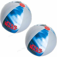 """2 x Large Inflatable Beach Ball Swimming Pool Party Play Ball 24"""" Star Wars"""