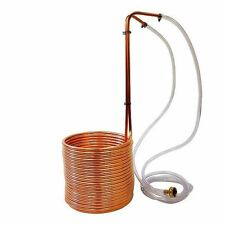 "New, Super Efficient 50' Copper Wort Chiller 3/8"" - Beer Homebrew Immersion"