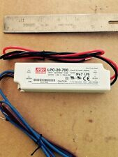Power Supply, Mean Well LPC-20-700, 700 mA C.C. @ 10-30 vdc