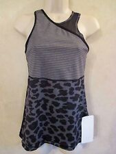 NWT LULULEMON SZ 8 MESHED UP Black Running 2 IN 1 SPORTS BRA & TANK TOP~SOLD OUT