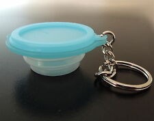 Tupperware Light Blue Goflex Keychain - RARE