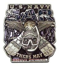 United States NAVY - Rescue Swimmer SAR Others May Live USN Challenge Coin