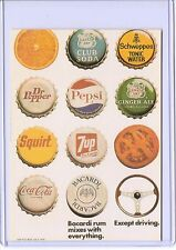 VINTAGE REPRO BACARDI RUM MIXES W EVERYTHING ADVERTISING REPRODUCTION POSTCARD