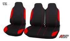 MERCEDES Vito 2+1 rosso singolo nero + tessuto doppio comfort Seat Covers