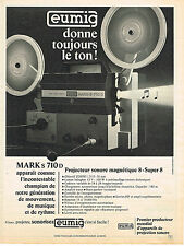 PUBLICITE ADVERTISING 024   1972   EUMIG   projecteur sonore  MARK s 710d