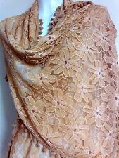 WEDDING  LACE  SCARF SCARVES GIFT SHAWLS WRAP FLORALPASHMINA STOLE SHAWLS PARTY