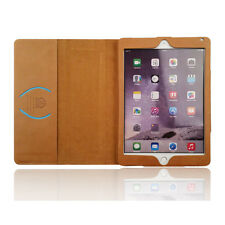 For iPad Air 2 ipad 6 Premium Real Genuine Leather Case Smart Cover Stand Wallet