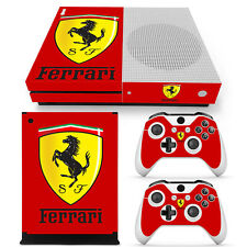 Xbox One S Console Skin Decal Sticker Ferrari Custom + 2 Controller Skins Set