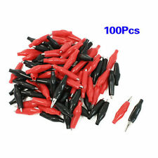 100Pcs  Alligator Leads Crocodile Test Clip for Electrical Jumper Wire Cable
