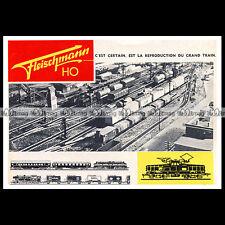 FLEISCHMANN HO Train Electrique (1963) : Pub / Publicité / Advert Ad #B550