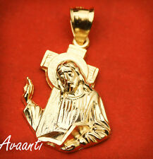 Real 10k Gold Jesus Face / Head / Body with Cross Pendant Charm Piece