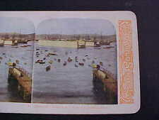 Harbor & Floating Dry Dock Valparasio Chile Stereo Card
