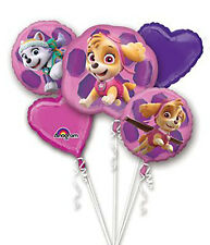Girl PUPS SKYE & EVEREST PAW PATROL Foil Balloon Bouquet Birthday Party Supplies
