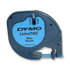 DYMO 12mm LETRATAG Tape label PLASTIC Acid Blue 4m