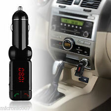 5V USB CAR CIGAR LIGHTER CHARGER - DIGITAL HANDSFREE BLUETOOTH FM MP3 2X OUTPUT