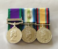 GSM Northern Ireland, Falklands & Rosette, Gulf War, Mounted Medals, Full Size