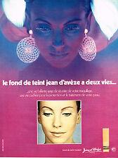 PUBLICITE ADVERTISING 045  1971  JEAN D'AVEZE  cosmétiques fond de teint