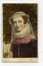 (Gy524-442) RP, Victorian CDV, Mary Queen of Scots c1860 VG