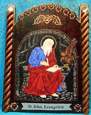 "St. John Evangelist & Eagle Retablo - ""Patron of Friendships, Love, etc."""