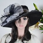 F&N STORY Large Kentucky Derby Feather Church Dress Hat Wedding Party Hat S2J
