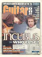 GUITAR ONE MAGAZINE INCUBUS MIKE EINZIGER BRANDON BOYD November 2001 *TAB* tesla