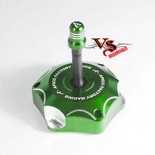 Apico Anodizado Tapa de combustible Inc Tubo de ventilación Kawasaki KLX450R KXF450 06-16 Verde