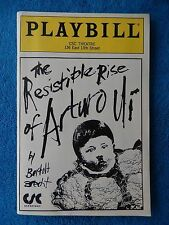 The Resistible Rise Of Arturo Ui - CSC Playbill w/Ticket - May 16th, 1991