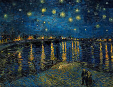 Starry Night Over the Rhone by Vincent van Gogh A1+ High Quality Canvas Print