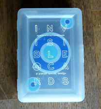 Invisible Clear Plastic Playing Cards Deck Kikkerland Blue Bulls Eye Target