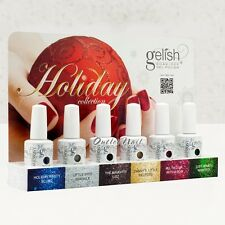 NEW! HARMONY GELISH HOLIDAY 2012 Collection Soak Off Gel Set 6 Color   Ship 24H!