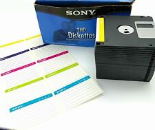 24 Sony Micro FLOPPY DISKS Diskettes 3.5in IBM Formatted 1.44MB 25MFD-2HD