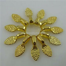 11790 50PCS Gold Tone Oval 15mm Glue on Bails Bail Setting Pendant FOR Necklace