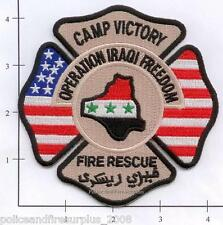 Iraq - Camp Victory Fire Rescue OIF Fire Dept Patch