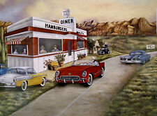 Historic Route 66-Diner and Great Cars 2003 Scafa Art Kay Lamb Shannon NIP