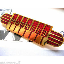 MADNESS - RED PIANO LOGO DIAL-A-STYLE ENAMEL BADGE - SUGGS SKA TWO TONE STIFF
