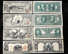 1896 $1 $2 $5 Reprint Educational Series Silver Certificate, 1901 $10 Bison Copy
