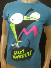 NWT JUNIORS L BLUE ALIEN INVADER ZIM DOG SUIT GIR SCARY MONKEY GRAPHIC TEE SHIRT