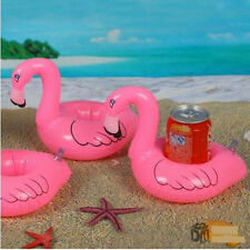 3x Flamingo Drink can Holder Inflatable Pool beach blow up Toy Party favor pink