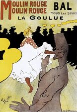 ART Deco Stampa Moulin Rouge famoso LAUTREC POSTER