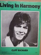 song sheet LIVING IN HARMONY Cliff Richard 1972
