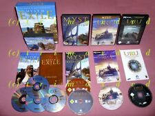 4x PC _ Myst III Exile & Myst IV Revelation & Uru Ages Beyond Myst & The Path ..