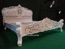 WHITE  6' Super King Size French Baroque Louis style .....TOP Quality Rococo Bed