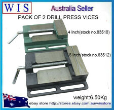 """2 IN 1 4""""/100mm DRILL PRESS VICE BENCH VISE & 6""""(150mm) DRILL PRESS VICE"""