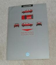 Volkswagen VW Polo Coupe Fox Brochure 1985