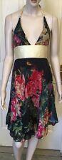 Razak Silk Halter Dress size 1 Or A Sz 6-8 Fully Lined