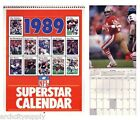 CALENDARS: NFL FOOTBALL - 1989 SUPERSTARS : FREE SHIPPING ! #Q-FB89 RP95 C