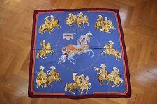 """RARE Auth Hermes Paris """"CARROUSEL"""" Vintage Silk Scarf CHRISTIANE VAUZELLES 90cm"""